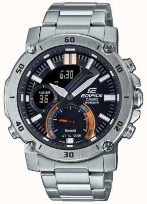 Casio Edifice | Stainless Steel Bracelet | Bluetooth | Black Dial ECB-20D-1AEF