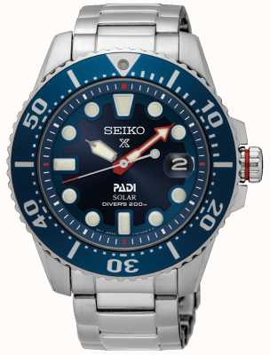 Seiko Men's PADI | Prospex Divers | Stainless Steel | Blue Dial SNE549P1