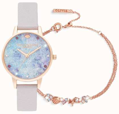 Olivia Burton | Under The Sea | Watch And Bracelet Gift Set | Lilac | OBGSET142