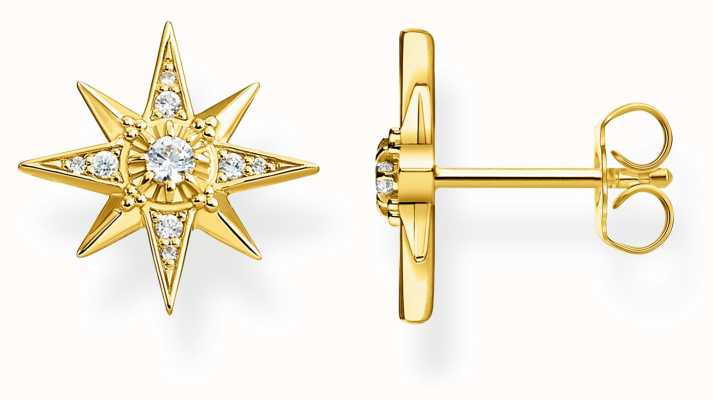 Thomas Sabo Glam & Soul | Yellow Gold Plated Star Stud Earrings | H2081-414-14