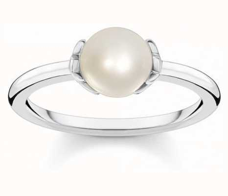 Thomas Sabo Sterling Silver Fresh Water Pearl Ring | EU 54 (UK N) TR2298-167-14-54