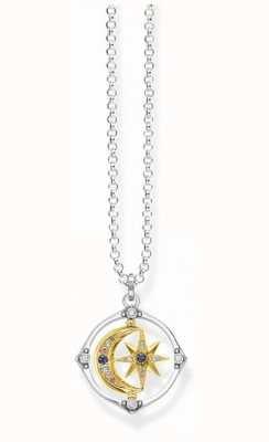 Thomas Sabo Sterling Silver Star & Gold Moon Necklace KE1985-556-7-L50V