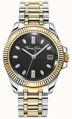 Thomas Sabo Women's Divine | Two-Tone Steel Bracelet | Black Dial WA0370-291-203-33