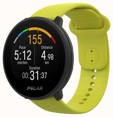 Polar | Unite | Lime Green Silicone Strap | Black Case | 90083111