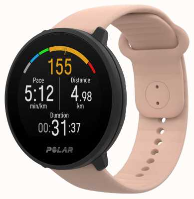 Polar | Unite | Blush Silicone Strap | Black Case | 90084480