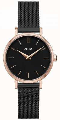 CLUSE | La Bohème Petite | Black Mesh Bracelet | Black Dial | CW0101211004