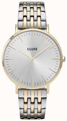 CLUSE La Bohème | Two-Tone Steel Bracelet | Sunray Silver Dial CW0101201025