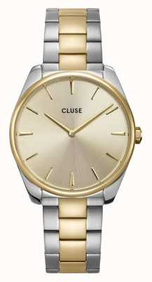 CLUSE Féroce | Two-Tone Steel 3-Link Bracelet | Gold Dial CW0101212004