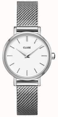 CLUSE La Bohème Petite | Steel Mesh Bracelet | White Dial CW0101211007