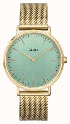 CLUSE La Bohème | Gold Mesh Bracelet | Pale Green Dial CW0101201027