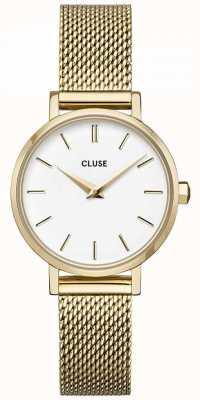CLUSE | La Bohème Petite | Gold Mesh Bracelet | White Dial | CW0101211001