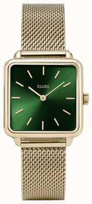 CLUSE | La Tétragone | Gold Mesh Bracelet | Green Dial | CW0101207013
