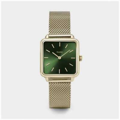 CLUSE La Tétragone | Gold Mesh Bracelet | Green Dial CW0101207013