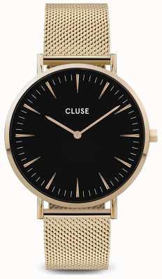 CLUSE | La Bohème | Gold Mesh Bracelet | Black Dial | CW0101201014