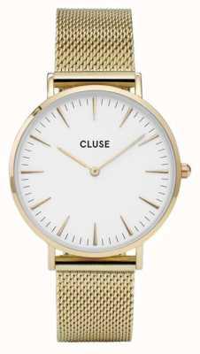 CLUSE La Bohème | Gold Mesh Bracelet | White Dial CW0101201009