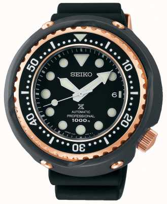 Seiko Men's Prospex | Black Silicone Strap | Black Dial | SLA042J1