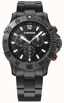 Wenger Seaforce Chrono 43mm | Black Stainless Steel Bracelet 01.0643.121