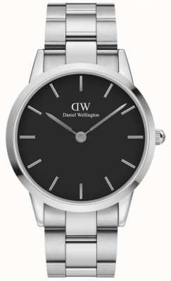 Daniel Wellington Iconic Link 40 | Stainless Steel Bracelet | Black Dial DW00100342