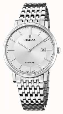 Festina Men's Swiss Made | Stainless Steel Bracelet | Silver Dial F20018/1