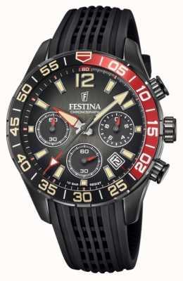 Festina Men's Chronograph | Black Silicone Strap | Black Dial F20518/3