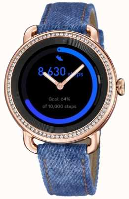 Festina SmarTime | Women's Denim Strap | Colour Screen | Crystal Set | Additional Strap F50002/1