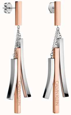 Calvin Klein Tinkle | Two-Tone Stainless Steel Drop Earrings KJCTME200100