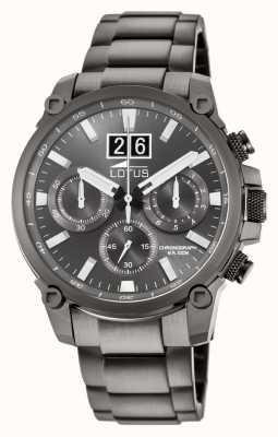Lotus Men's Grey Stainless Steel Bracelet | Grey Chronograph Dial L10140/1