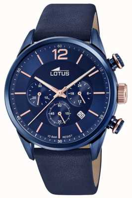 Lotus Men's Blue Leather Strap | Blue Chronograph Dial L18681/2