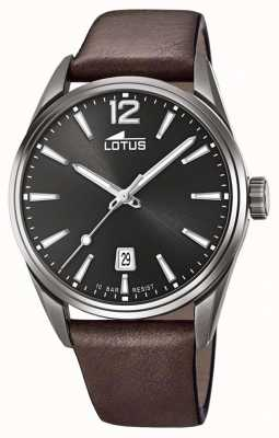 Lotus Men's Brown Leather Strap | Black Dial L18685/1