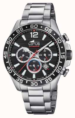 Lotus Men's Stainless Steel Bracelet | Black Chronograph Dial L18696/4