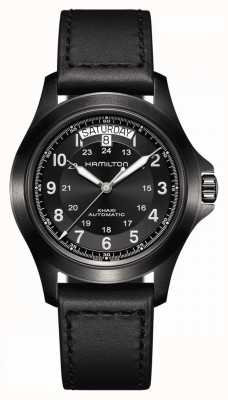 Hamilton Khaki Field King | Black Leather Strap | Black Dial H64465733