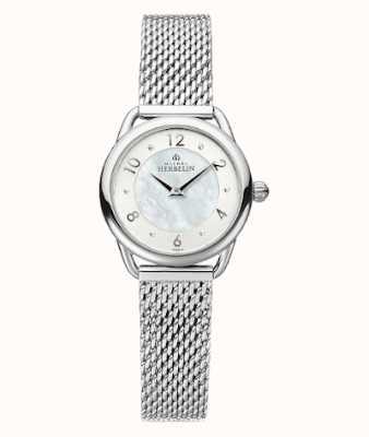 Michel Herbelin Equinoxe | Women's Steel Mesh Bracelet | Mother Of Pearl Dial 17497/29B