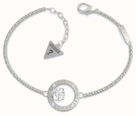 Guess All Around You | Stainless Steel Crystal Set Bracelet UBB20131-L