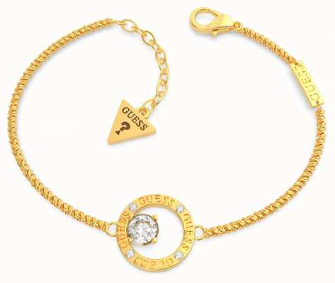 Guess All Around You | Gold Plated Crystal Set Bracelet UBB20132-L