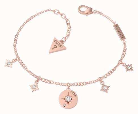 Guess Wanderlust | Rose Gold Plated Compass & Crystal Bracelet UBB20032-L