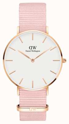 Daniel Wellington Petite 36 Rosewater | Pink Fabric Strap | White Dial DW00100360