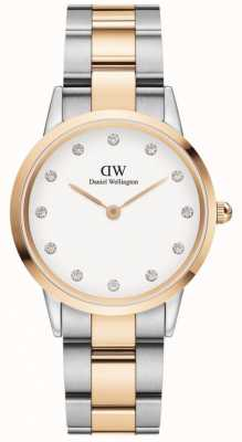 Daniel Wellington Iconic Lumine 32 | Two-Tone Steel Bracelet | White Dial DW00100358