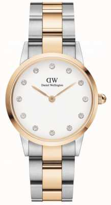 Daniel Wellington Iconic Lumine 28 | Two-Tone Steel Bracelet | White Dial DW00100359