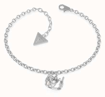 Guess Queen Of Heart | Stainless Steel Crown Charm Bracelet UBB79012-L