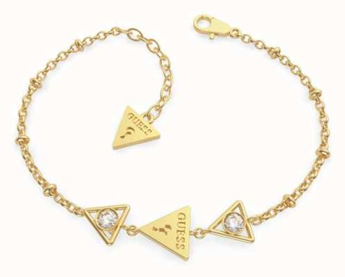 Guess Queen Of Heart | Gold Plated Triangle Bracelet UBB79016-L