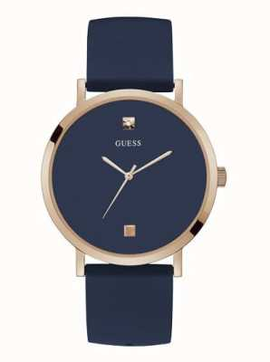 Guess Supernova | Men's Blue Silicone Strap | Blue Dial W1264G3
