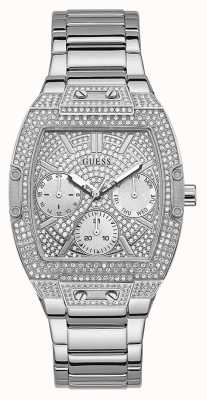 Guess Raven | Women's Stainless Steel Bracelet | Silver Crystal Set Dial GW0104L1
