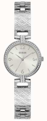 Guess Mini Luxe | Stainless Steel Bracelet | White Dial GW0112L1