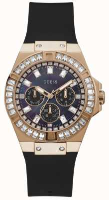 Guess Venus | Women's Black Silicone Strap | Mother Of Pearl Dial GW0118L2