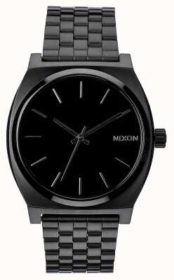 Nixon Time Teller | All Black | Black IP Steel Bracelet | Black Dial A045-001-00