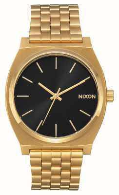 Nixon Time Teller | All Gold / Black Sunray | Gold IP Bracelet | Black Dial A045-2042-00