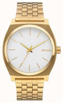 Nixon Time Teller | Gold / White | Gold IP Bracelet | White Dial A045-508-00