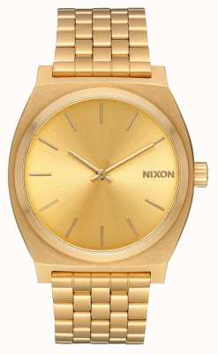 Nixon Time Teller | All Gold / Gold | Gold IP Bracelet | Gold Dial A045-511-00
