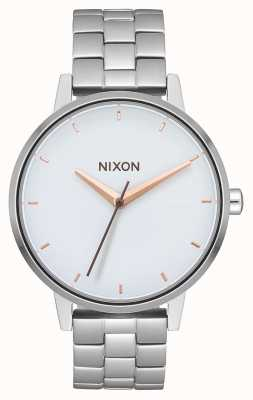 Nixon Kensington | Silver / White / Rose Gold | Stainless Steel Bracelet | White Dial A099-3029-00
