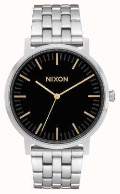 Nixon Porter | Black / Gold | Stainless Steel Bracelet | Black Dial A1057-010-00